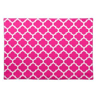 Quatrefoil Hot Pink Placemat