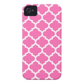 Quatrefoil iPhone 4/4S Case in Hot Pink