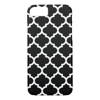 Quatrefoil iPhone 7 Case in Black and White