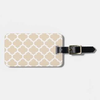 Quatrefoil Ivory Luggage Tag