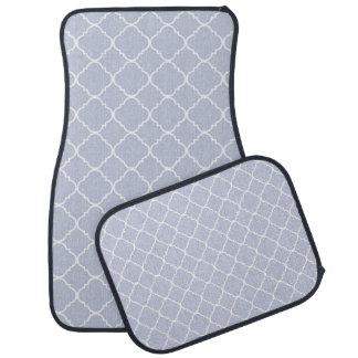 Quatrefoil lilas et blanc tapis de voiture