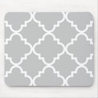 Quatrefoil Mousepad - Grey