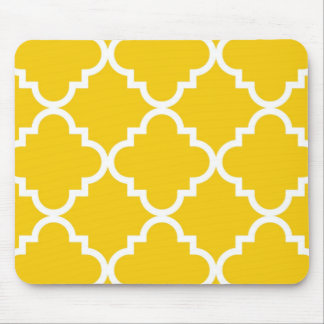 Quatrefoil Mousepad - Yellow