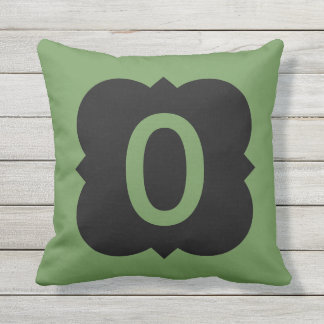 Quatrefoil: Number 0 Outdoor Pillow