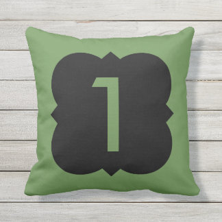 Quatrefoil: Number 1 Throw Pillow