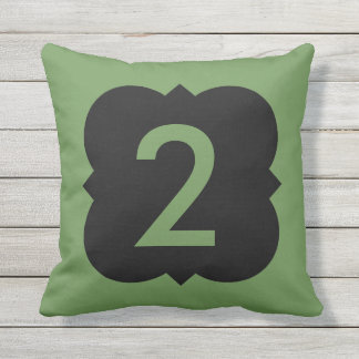Quatrefoil: Number 2 Throw Pillow