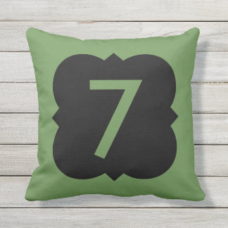 Quatrefoil: Number 7 Outdoor Pillow