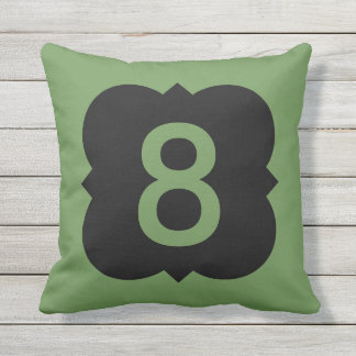 Quatrefoil: Number 8 Outdoor Pillow