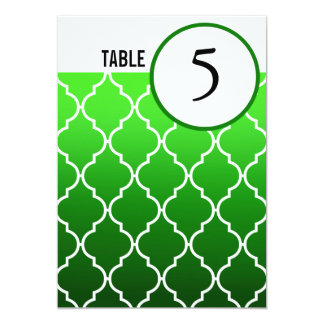 Quatrefoil Ombre Table Numbers | emerald Card