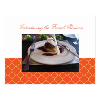 Quatrefoil orange clover business event invitation postcard