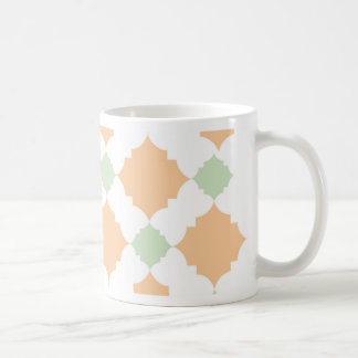 Quatrefoil pattern coffee mug