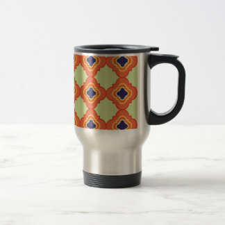 Quatrefoil pattern I Travel Mug