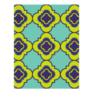 Quatrefoil pattern II Customized Letterhead