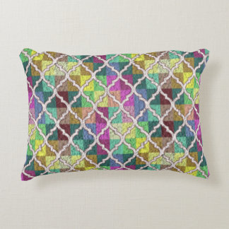 QUATREFOIL PATTERN MULTICOLOR Accent Pillow