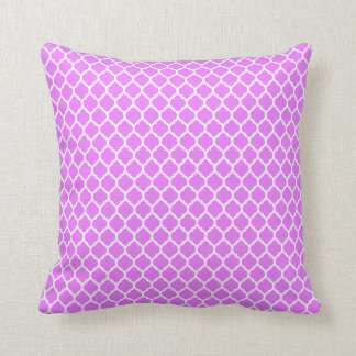 QUATREFOIL PATTERN PILLOW, Lilac & White Throw Pillow