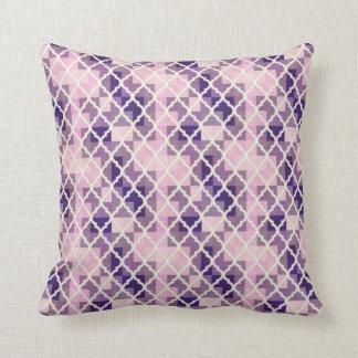 QUATREFOIL PATTERN PILLOW, Purple Lavender Throw Pillow
