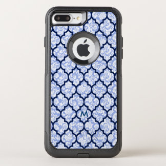 Quatrefoil Pattern & Powder Blue Damasks OtterBox Commuter iPhone 8 Plus/7 Plus Case
