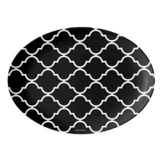 Quatrefoil Pattern Serving Platter