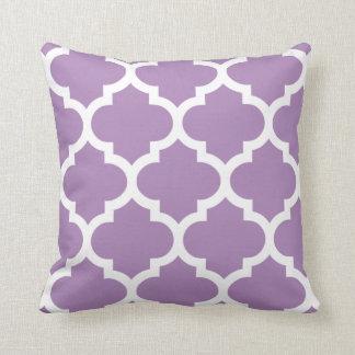 Quatrefoil Pillow in African Violet Purple