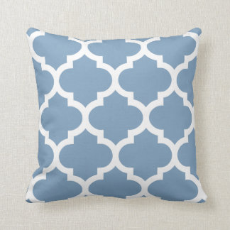 Quatrefoil Pillow in Dusk Blue