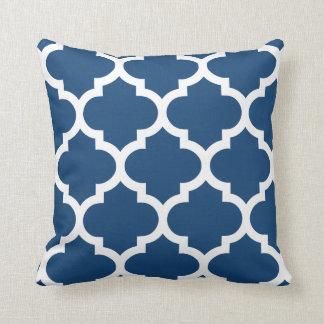 Quatrefoil Pillow in Monaco Blue