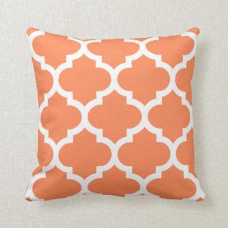 Quatrefoil Pillow in Nectarine Orange