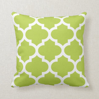 Quatrefoil Pillow in Olive Green