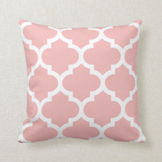 Quatrefoil Pillow in Pink Rose
