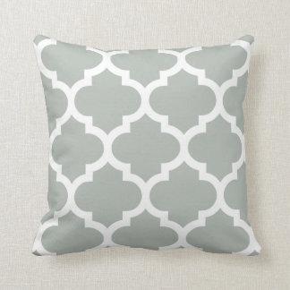Quatrefoil Pillow in Silver Gray