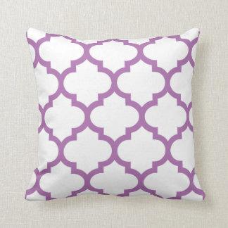 Quatrefoil Pillow - Radiant Orchid Purple