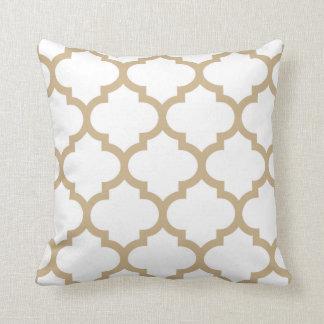 Quatrefoil Pillow - Sand Brown
