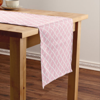 Quatrefoil Table Runner | Pink Pattern