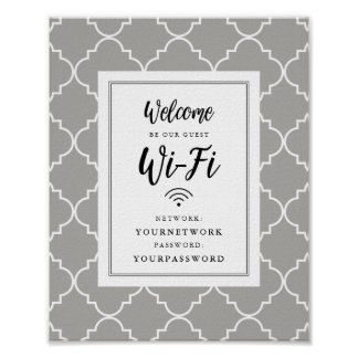 Quatrefoil Wifi Sign