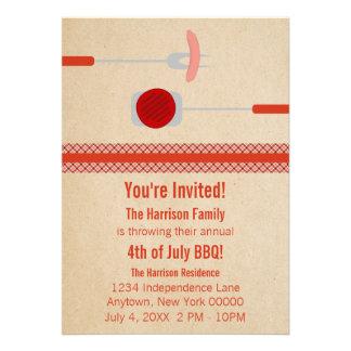 Quatrième d été de juillet grillant l invitation
