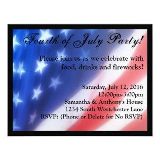 Quatrième d invitation de célébration de juillet