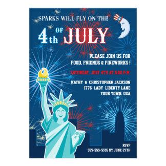Quatrième d invitation de partie de juillet
