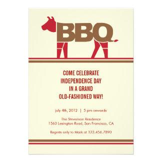 Quatrième d invitation moderne de BBQ de juillet