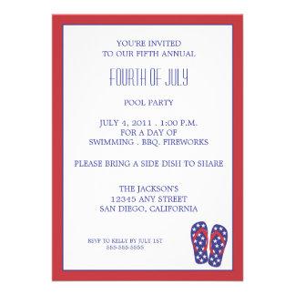 Quatrième de bascule électronique de juillet invitations