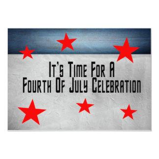 Quatrième de célébration de juillet faire-part personnalisé