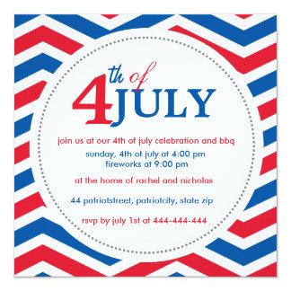 Quatrième de coutume du 4 juillet juillet carton d'invitation  13,33 cm