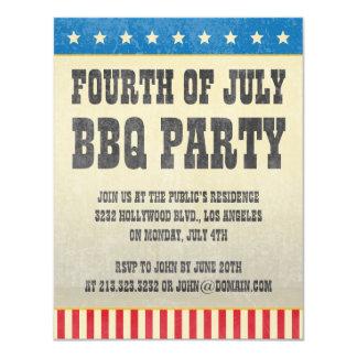 Quatrième de cru de partie américaine de BBQ de Carton D'invitation 10,79 Cm X 13,97 Cm