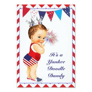 Quatrième d'invitation de baby shower de juillet carton d'invitation 8,89 cm x 12,70 cm