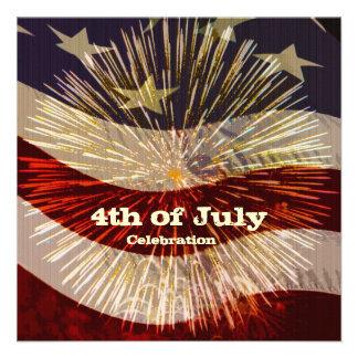 Quatrième d'invitation de célébration de juillet