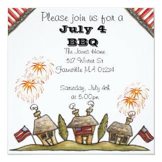 Quatrième d'invitation de juillet carton d'invitation  13,33 cm