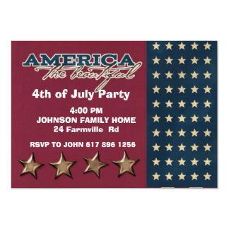 quatrième d'invitation de juillet carton d'invitation  12,7 cm x 17,78 cm