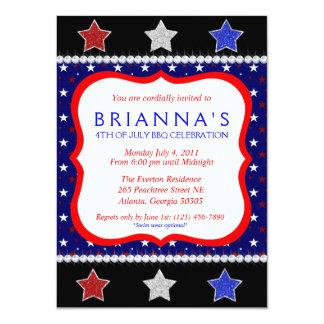 Quatrième impertinent d'invitation de juillet carton d'invitation  11,43 cm x 15,87 cm