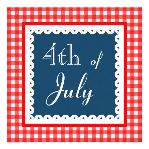 Quatrième patriotique des invitations de juillet