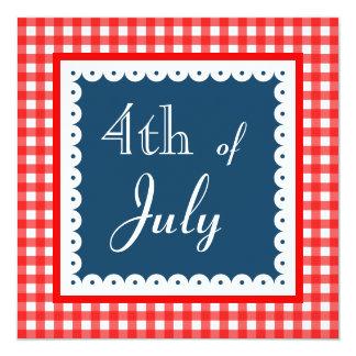 Quatrième patriotique des invitations de juillet carton d'invitation  13,33 cm