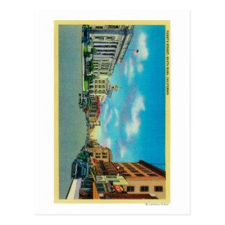 Quatrième rue à Santa Rosa, CASanta Rosa, CA Carte Postale