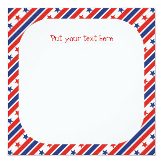 Quatrièmes 4 juillet invitations bleues rouges de